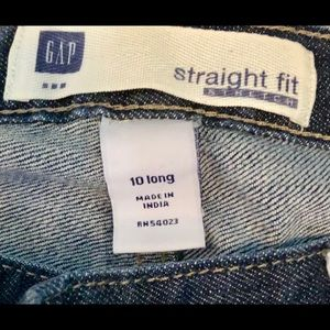 Gap straight fit jeans 10 long